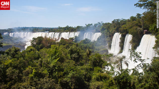 "iReporters share their photos of Argentina's natural and cultural mystique. Aldridge Murrell snapped this shot of Iguazu's seemingly endless waterfalls, of which there are 200. ""There are catwalks on multiple levels to view falls up very close. You can also take a boat ride that is guaranteed to get you wet."""
