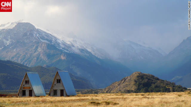 "Michael Henry snapped this shot of shelters in Patagonia. ""The trip made me a better person, as any good trip will do. It made me proud to live on such a beautiful planet."""