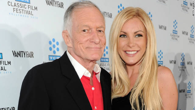 After a much <a href='http://marquee.blogs.cnn.com/2011/06/14/hugh-hefners-fiancee-calls-off-the-wedding/' target='_blank'>publicized break-up</a> and reconciliation, Crystal Harris, 26, finally got her man when she married Playboy founder Hugh Hefner, 86, on New Year's Eve. But she's not the first blonde to capture his heart in recent years.
