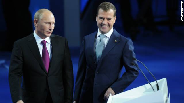 Medvedev: Putin es más popular que yo