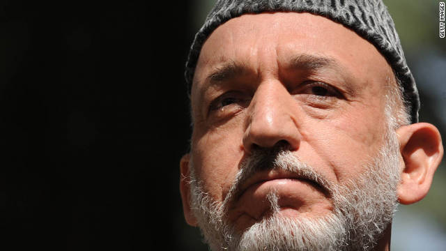 Afghan President Hamid Karzai says any peace negotiations with the Taliban must be conducted with Pakistan.