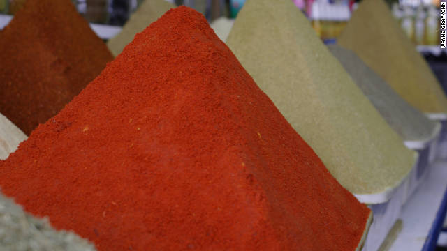 Many fragrant spice shops are found throughout the souk. Quality varies widely, and you should trust your senses to tell you if you're looking at the real thing. Give a canister a shake and take a whiff, dip the moistened tip of your finger in to taste it. Look for a blend known as ras el-hanout, a Moroccan specialty.