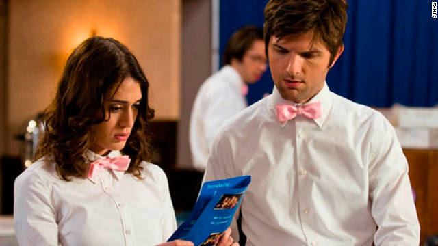 "The cast members of ""Party Down"" (including Lizzy Caplan, left, and Adam Scott) have been hard at work on their respective film and TV projects since the Starz series was canceled in 2010. Despite low ratings, the comedy received rave reviews."