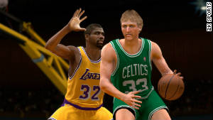 You can make NBA legends Magic Johnson and Larry Bird face off in \