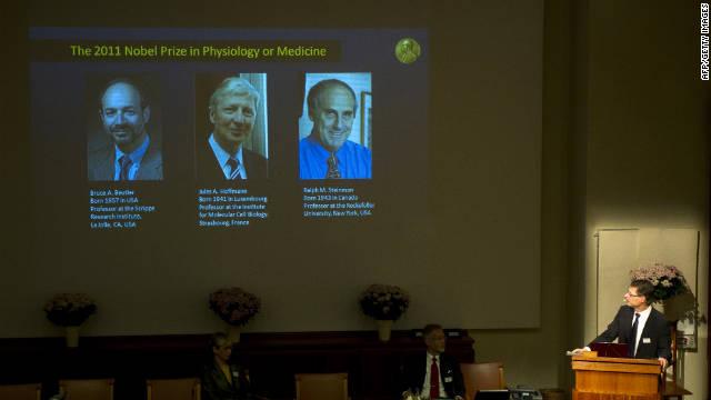 Tres científicos comparten el premio Nobel de Medicina 2011
