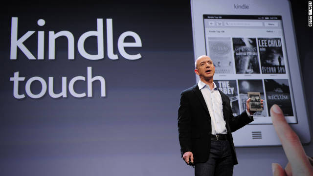 Amazon CEO Jeff Bezosintroduces the new Kindle Touch in New York.