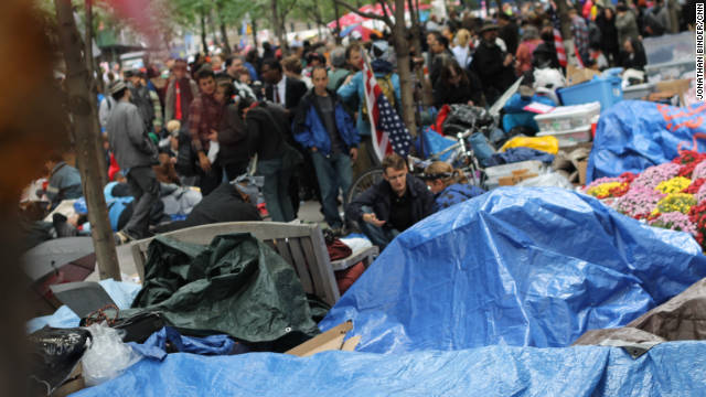 Protesters have been camping out at New York's Zuccotti Park for more than two weeks.