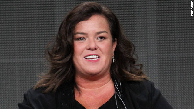 Rosie O'Donnell is shown here speaking at