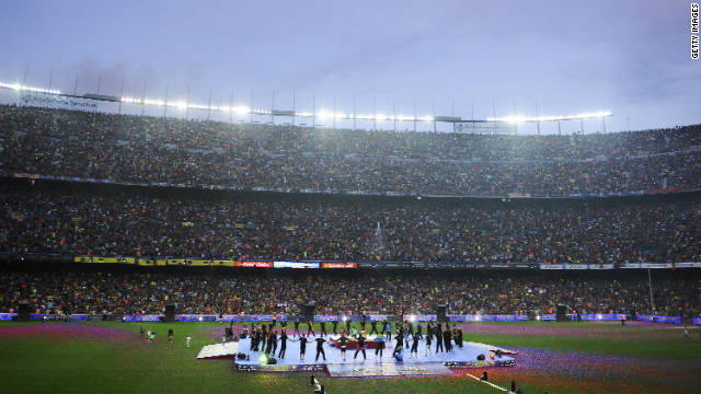 The Camp Nou in Barcelona is home to the European and Spanish champions. The stadium is the largest in the continent, with a capacity of almost 100,000.