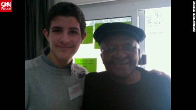 This picture of Peter Harrison and Tutu was taken during a peace mission to Cyprus this year. &quot;Desmond Tutu has left a very positive impression on me,&quot; said Harrison. &quot;He made a number of jokes and made everyone laugh which I found unusual considering the serious role that Desmond Tutu has.&quot;
