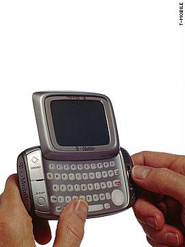 "You can blame the <a href='http://wiki.sidekick.com/page/Sidekick+History' target='_blank'>Black & White T-Mobile Sidekick</a> for the millennial generation's obsession with text messaging. The phone was basically a two-way pager, allowing messages to be sent back and forth. The phone retailed for $249 and appeared in Jay-Z's music video ""Excuse Me Miss."" Later versions added a color screen and quickly became a favorite among celebrities and teens."