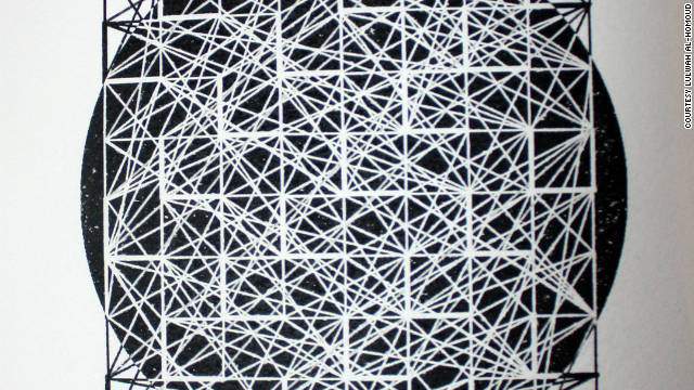 Much of Lulwah Al-Homoud's artwork features geometric patterns