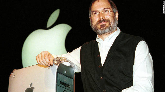 Steve Jobs introduces the new Power Mac G4 computer in San Francisco in 1999.