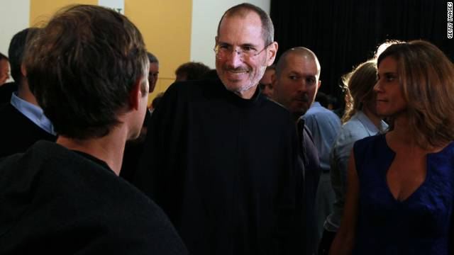 Jobs greets an attendee after he delivers the keynote address at the 2010 Apple Worldwide Developers conference in San Francisco.
