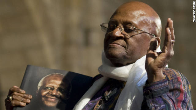 Archbishop Desmond Tutu says the former leaders of the U.S. and U.K. should face war-crimes charges.