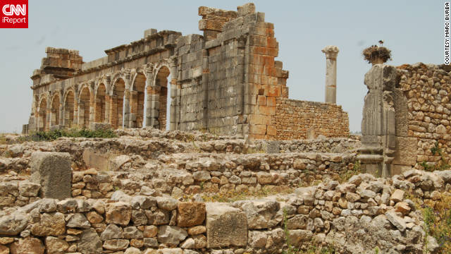 Marc Burba captured this ancient view. &quot;The Basilica of Volubilis served as a courthouse,&quot; he said. 