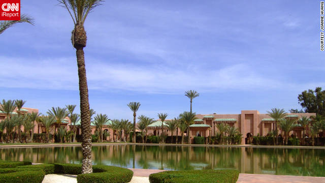 "Joanne Huang shared this photo of ""the tranquil and magnificent Amanjena resort on the outskirt of Marrakesh."""