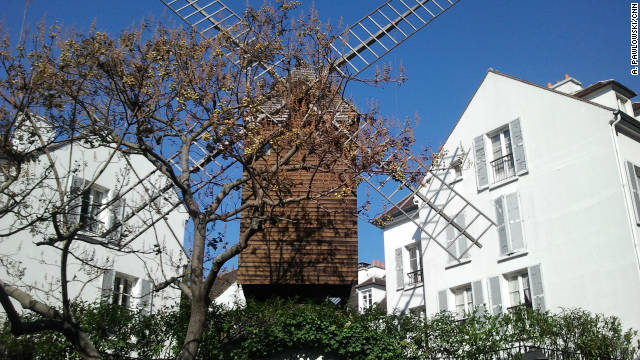 The Montmartre district, a haven for artists, used to be dotted with windmills. This is one of two that remain.