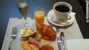 A champagne breakfast in Paris.
