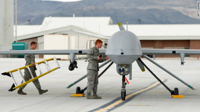 Many Reapers and Predators, pictured above at the Creech Air Force Base in 2009, don't encrypt the video they transmit.