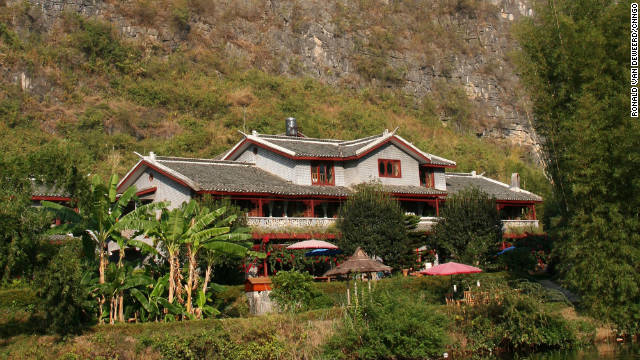 The Mountain Retreat Inn has views of the peaceful Yulong River near Yangshuo in Guanxi province.