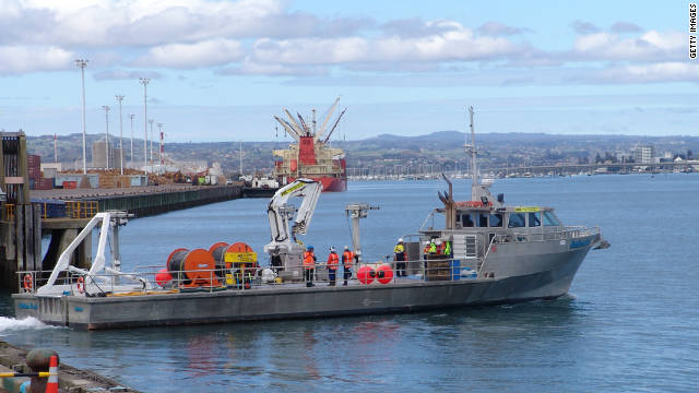 The Northern Star prepares to take oil spill response equipment to the grounded vessel Rena on October 9. 