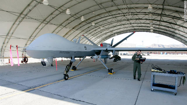 U.S. military drones flown on missions in war zones are operated out of Nevada's Creech Air Force Base.