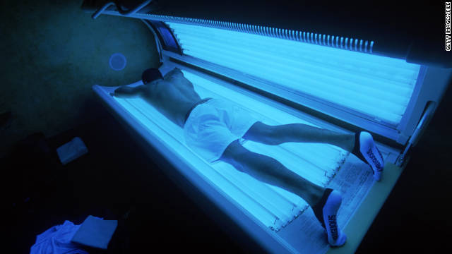 The FDA tightened regulations on sunlamps and tanning salons with new labels and warnings.