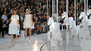 Model Kate Moss in Louis Vuitton shows how the Spring season will be about feeling like a princess.