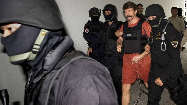 Suspected Russian arms dealer Viktor Bout arrives at a Bangkok court last year.