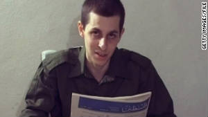 Kidnapped Israeli soldier Gilad Shalit is seen in a video grab made available by Hamas on October 2, 2009.