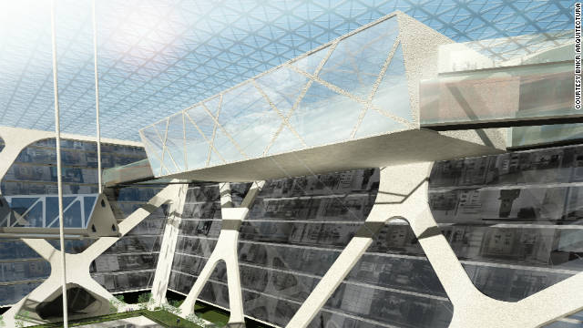 "Architect Edwardo Suarez envisages that the ""Earthscraper""could be accessed directly from the underground metro, preventing congestion above ground."