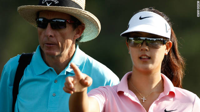Seen here with former child prodigy Michelle Wie in 2010, Leadbetter has established coaching academies around the world.