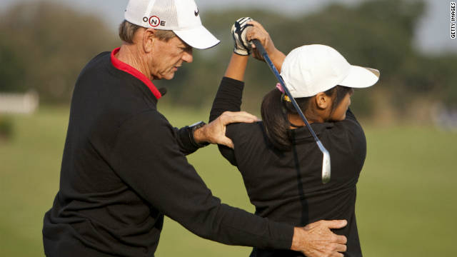Haney, meanwhile, is no longer coaching tour pros. His focus is on his<a href='http://www.ijga.com/index.php' target='_blank'> International Junior Golf Academy</a>, public clinics and corporate work.
