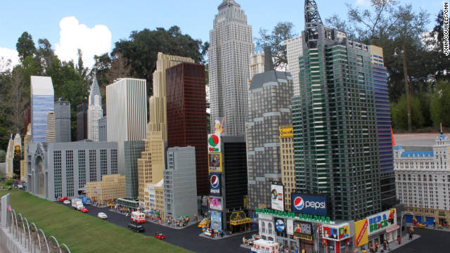 The Miniland USA attraction features Lego replicas of U.S. cities and monuments.