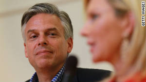 GOP presidential canididate Jon Huntsman addresses a town-hall style meeting this week in Hanover, New Hampshire.