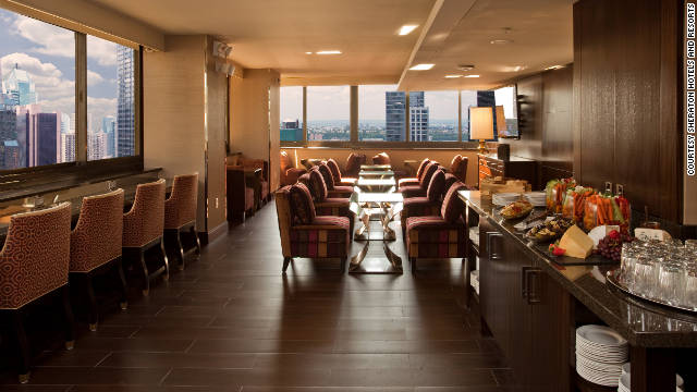 Sheraton is updating 120 club lounges around the world, including this one in New York City.
