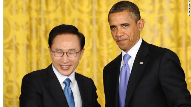 Obama, South Korean leader tout trade deal in Michigan