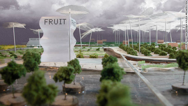 Within the next year, Dutch firm Van Bergen Kolpa Architects hope to have a working prototype of a supermarket farm that could produce most of the food items found in any grocery store.
