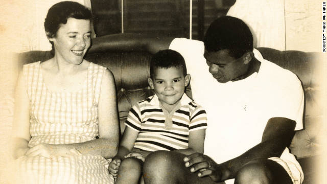 Mark Whitaker and his parents, Jeanne and Syl, before the couple separated and alcoholism destroyed Syl's health and career. 