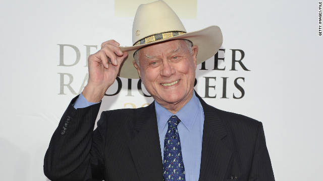 Larry Hagman attends an awards show in Hamburg, Germany, in September.