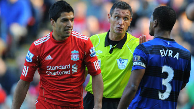 A high-profile incident in 2011 also saw the former Liverpool talisman suspended for eight matches for racially abusing Patrice Evra, then of Manchester United.