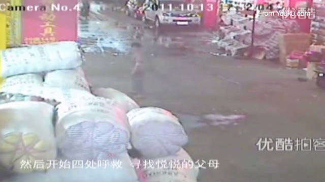 Fallece la niña que fue atropellada y abandonada en China