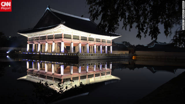 Pandios Manias took this beautiful night shot . &quot;Gyeongbok Palace was open to the public at night for a limited time,&quot; he said. &quot;The palace was absolutely beautiful. I plan to return when the first snowfall arrives.&quot;