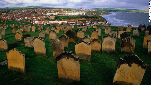 Whitby cemetery in England, a favorite for 