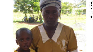 Philip Ouma and his mother, Rosemary
