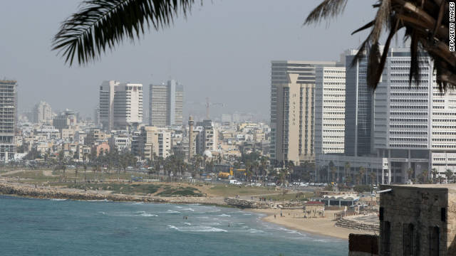 Tel Aviv, a city by the sea. 