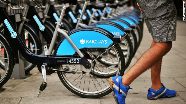 The Barclays Cycle Hire, nicknamed locally as the &quot;Boris bike,&quot; after the current London mayor who implemented it, is a regular sight around the British capital. 