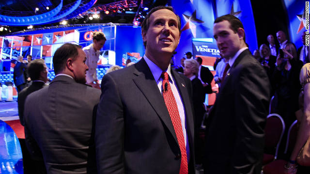 Former Pennsylvania Sen. Rick Santorum questioned how Romney could repeal President Obama's health care plan because Romney passed a similar plan in Massachusetts.