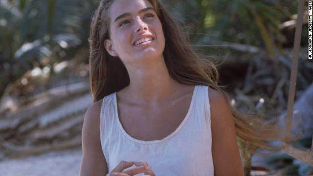 Brooke Shields plays a marooned young girl in 'The Blue Lagoon', which was partly shot in Jamaica.
